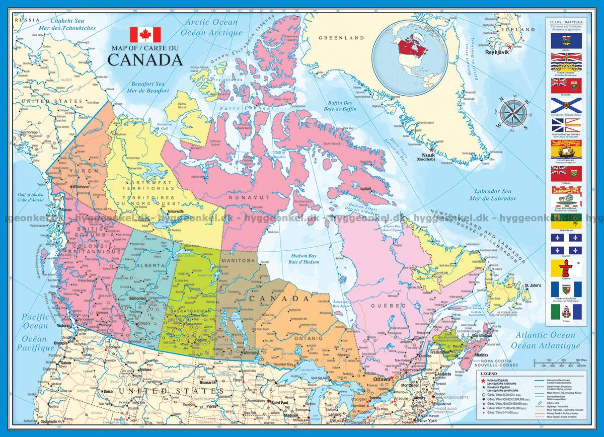 Karta Över Kanada