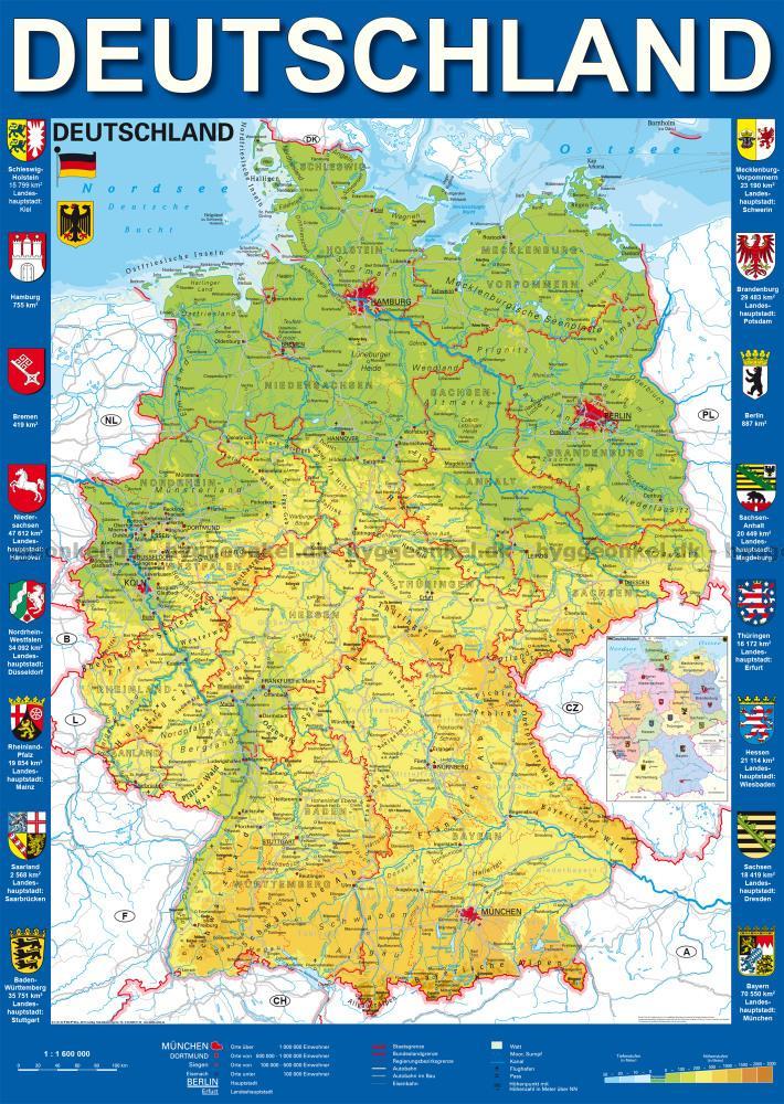 karta tyskland Karta över Tyskland, 1000 bitar pussel! karta tyskland